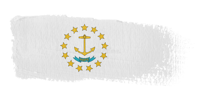 rhode острова флага brushstroke бесплатная иллюстрация