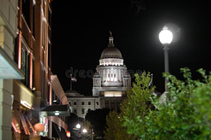 Rhode - edifício de capital do console imagem de stock