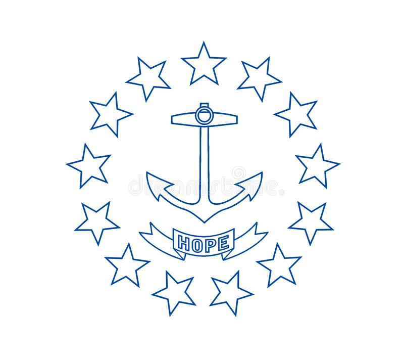 Rhode Island Flag royalty illustrazione gratis