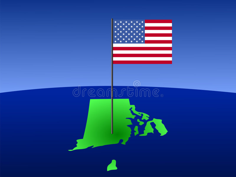 Download Rhode Island with Flag stock vector. Image of outline - 3146593