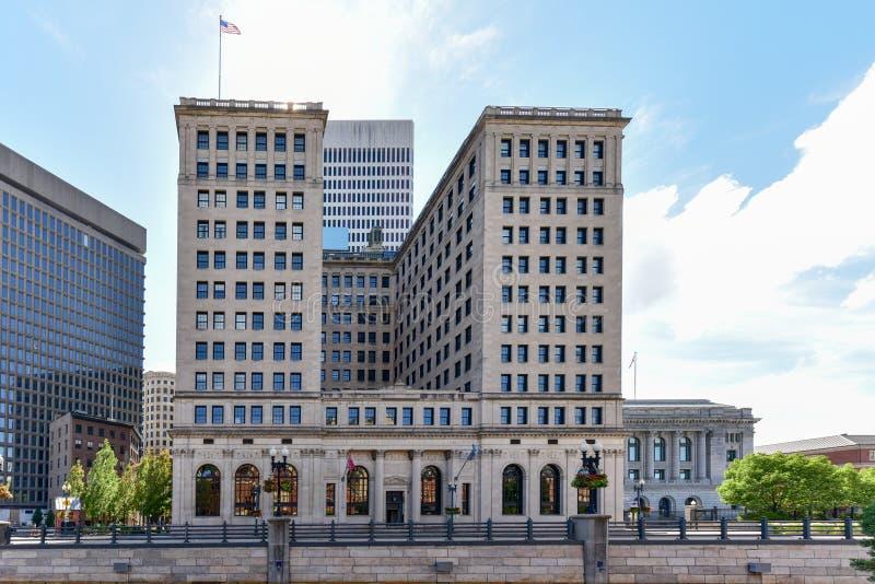 Rhode Island Hospital Trust Building royalty-vrije stock afbeeldingen