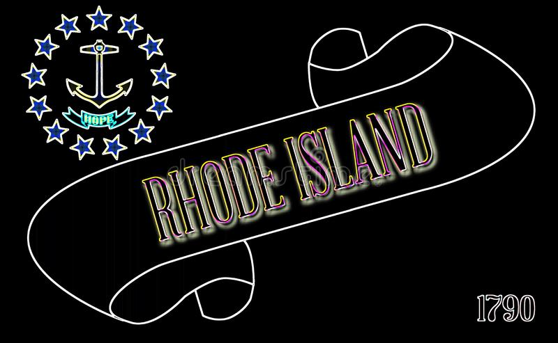 Rhode Island Scroll royalty illustrazione gratis
