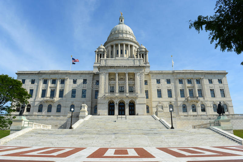 Rhode Island State House, Providence, RI, Etats-Unis photos stock
