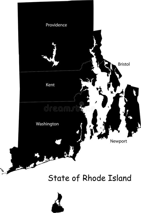 Rhode Island tillstånd royaltyfri illustrationer