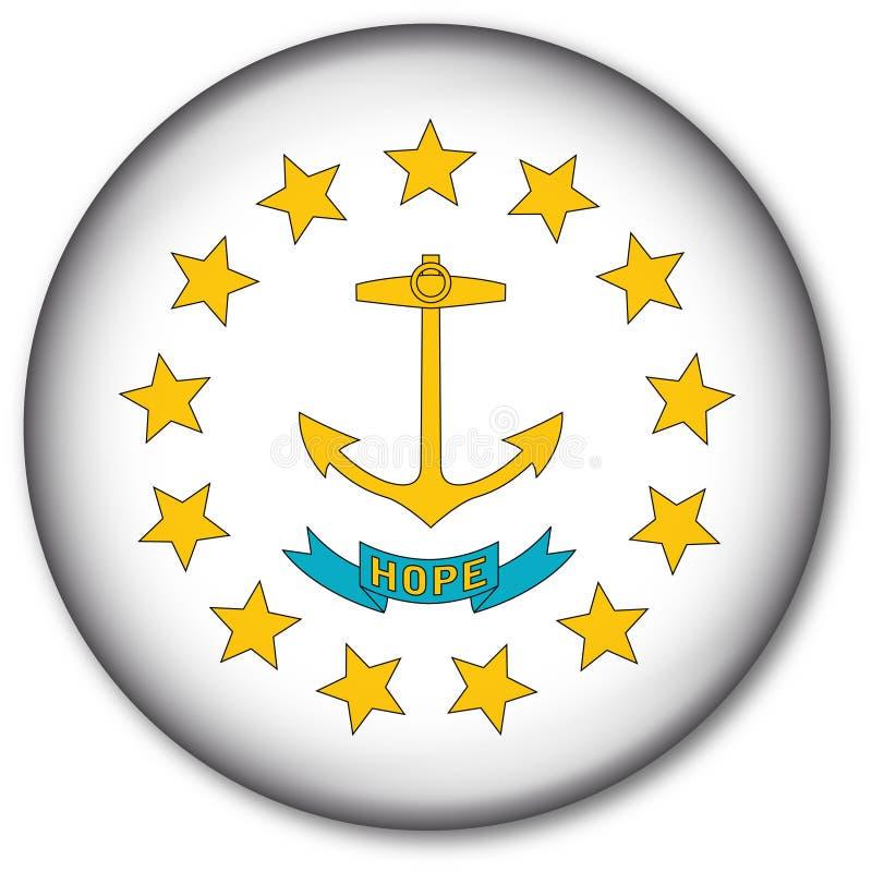 Rhode - tecla da bandeira do estado de console ilustração do vetor