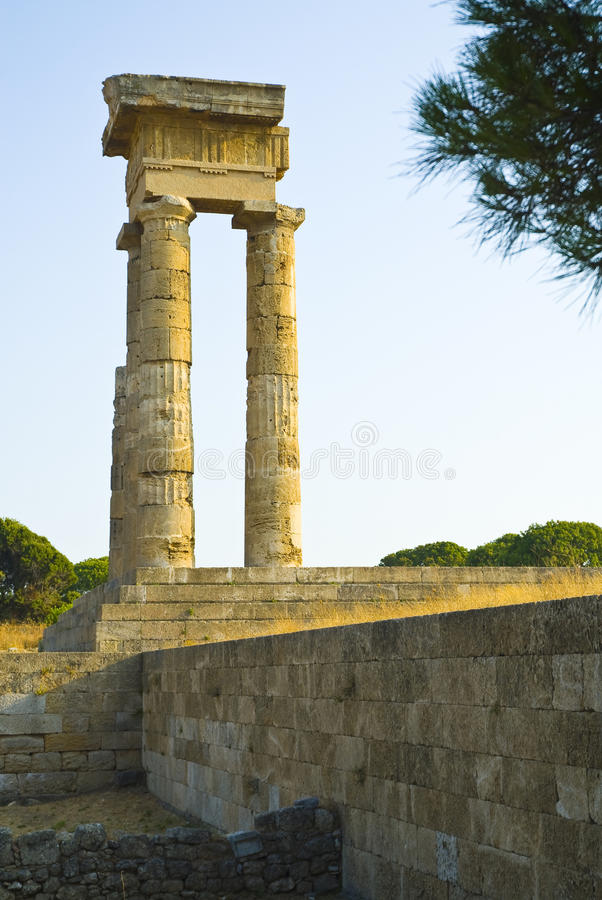 Download Rhodes Acropolis stock image. Image of famous, landmark - 10523459