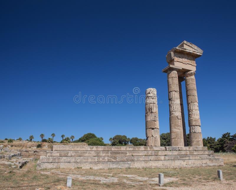 Rhodes Acropolis fotografia stock