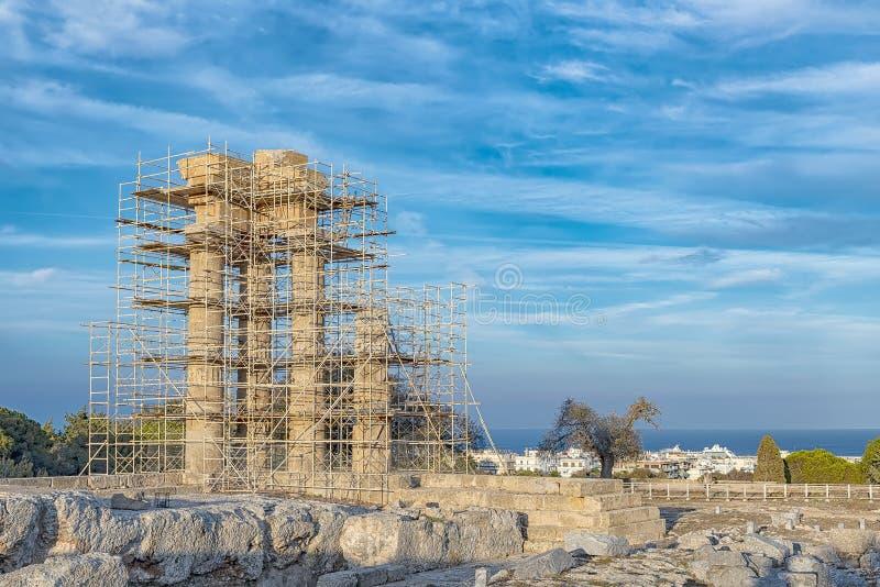 Rhodes Acropolis Outside Town fotografia stock