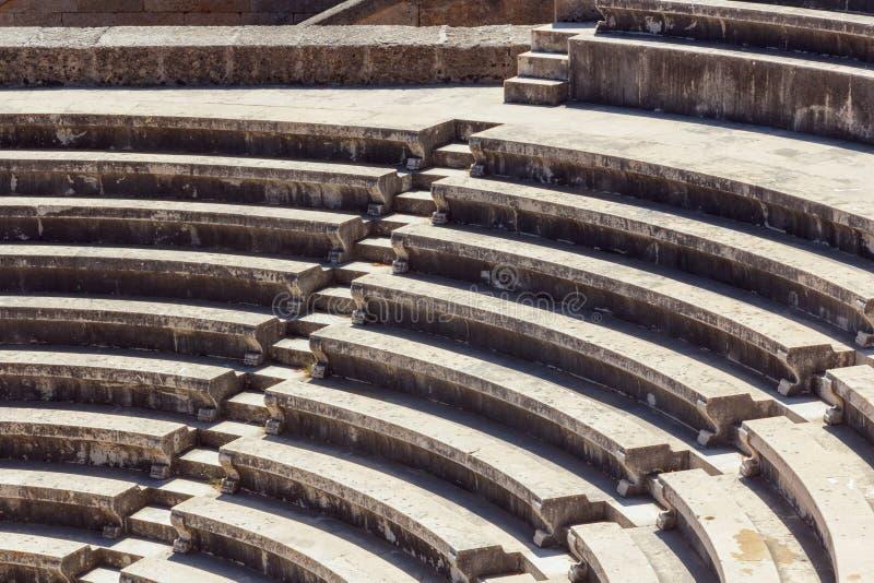 Rhodes Acropolis Stairs immagini stock libere da diritti
