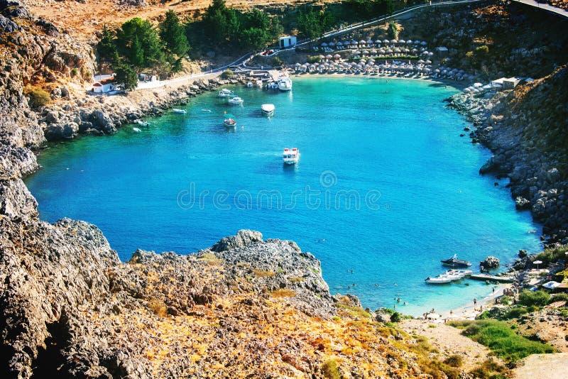 Rhodes Bay stockbild