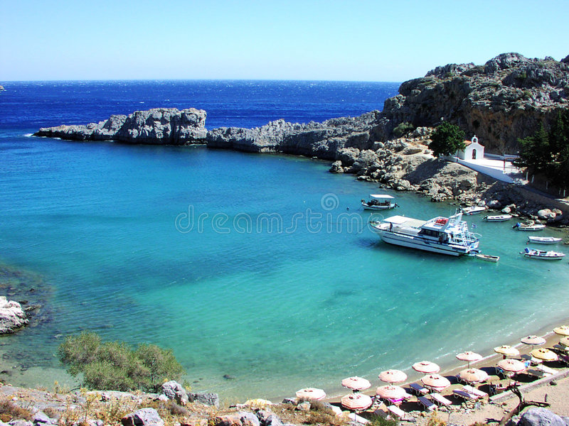 Download Rhodes Beach stock image. Image of summer, europe, clear - 157817