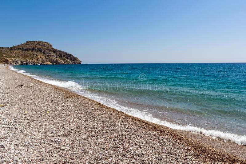 Rhodes Beach stock afbeelding