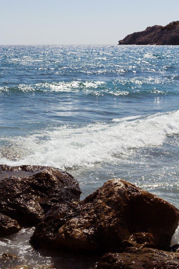 Rhodes Beach royalty-vrije stock fotografie