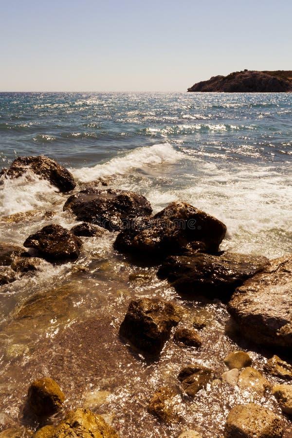 Rhodes Beach royalty-vrije stock foto's