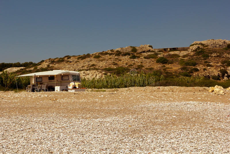 Rhodes Beach royalty-vrije stock afbeelding