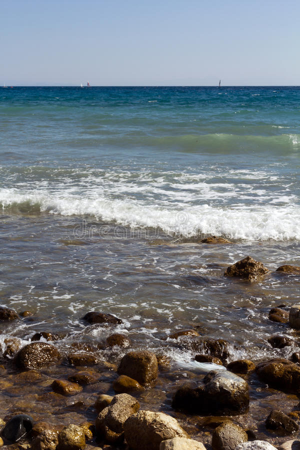 Rhodes Beach royalty-vrije stock foto