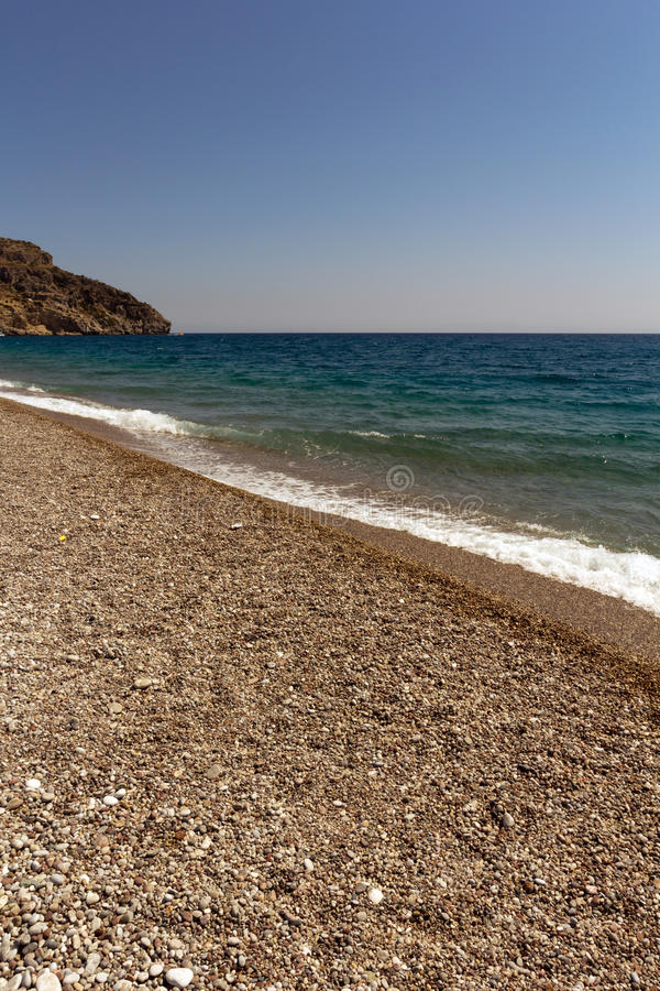 Rhodes Beach. In the Greece stock images
