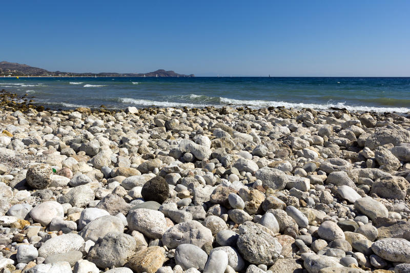Rhodes Beach. The Rhodes Beach in Greece royalty free stock photography