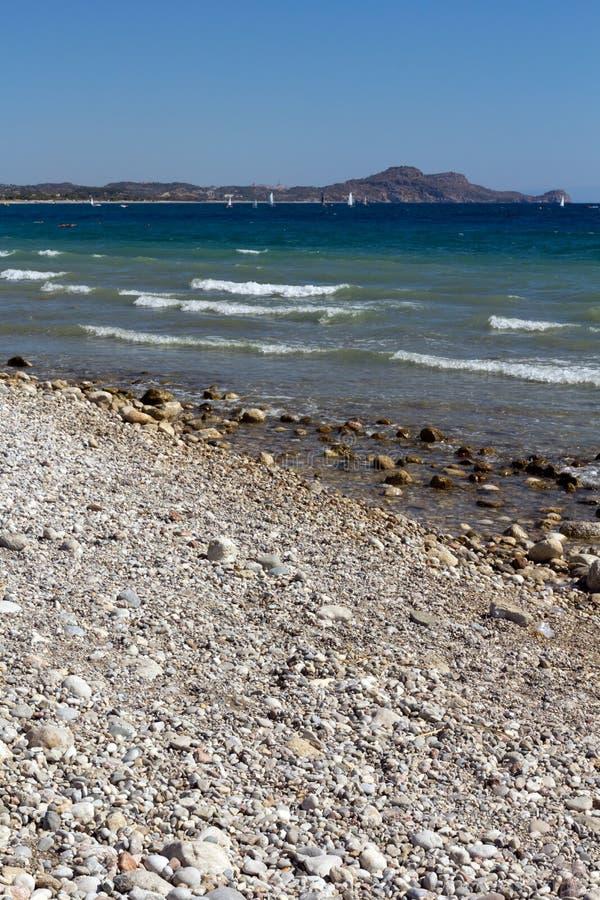 Rhodes Beach. The Rhodes Beach in Greece royalty free stock photo