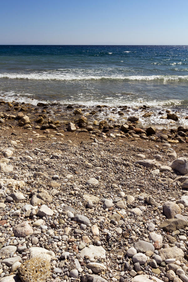 Rhodes Beach. The Rhodes Beach in Greece stock images