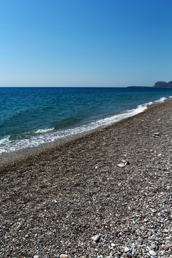 Rhodes Beach. The Rhodes Beach in Greece stock image