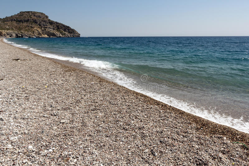 Rhodes Beach. The Rhodes Beach in Greece stock photography