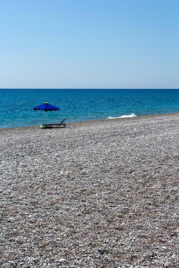 Rhodes Beach. The Rhodes Beach in Greece stock photos