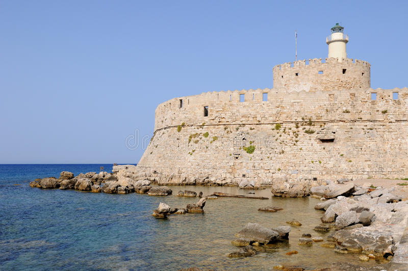 Download Rhodes Castle stock photo. Image of rhodes, harbour, ruin - 20100624