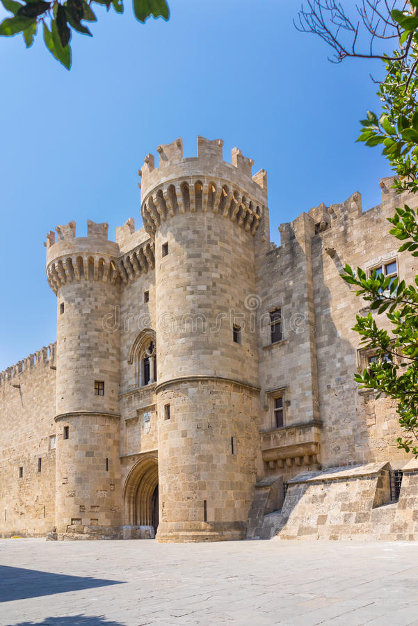 Rhodes Castle Greece Europe royaltyfri foto