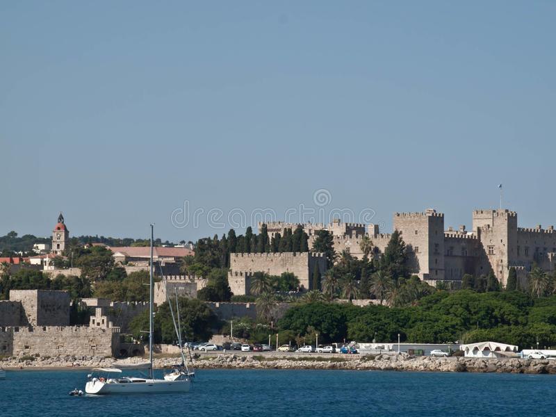 Download Rhodes Castle stock photo. Image of rodos, greece, grand - 34253860