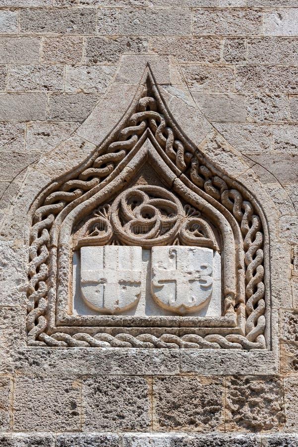 Rhodes Crown Wall royalty-vrije stock afbeeldingen