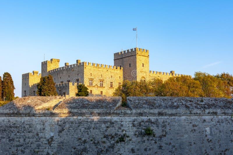 Rhodes fästning, Dodecanese öar, Grekland royaltyfria foton