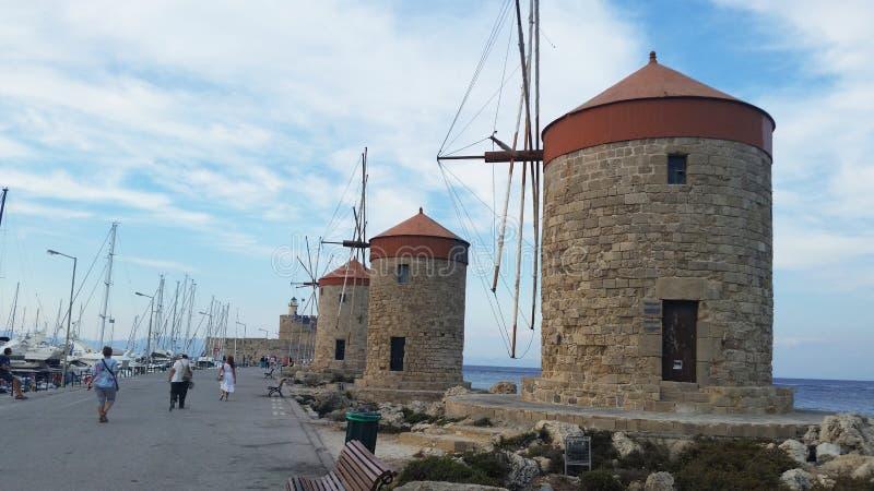 Rhodes forteca Wiatraczek Miasto Rhodes Rhodes wyspa wewnątrz obraz royalty free