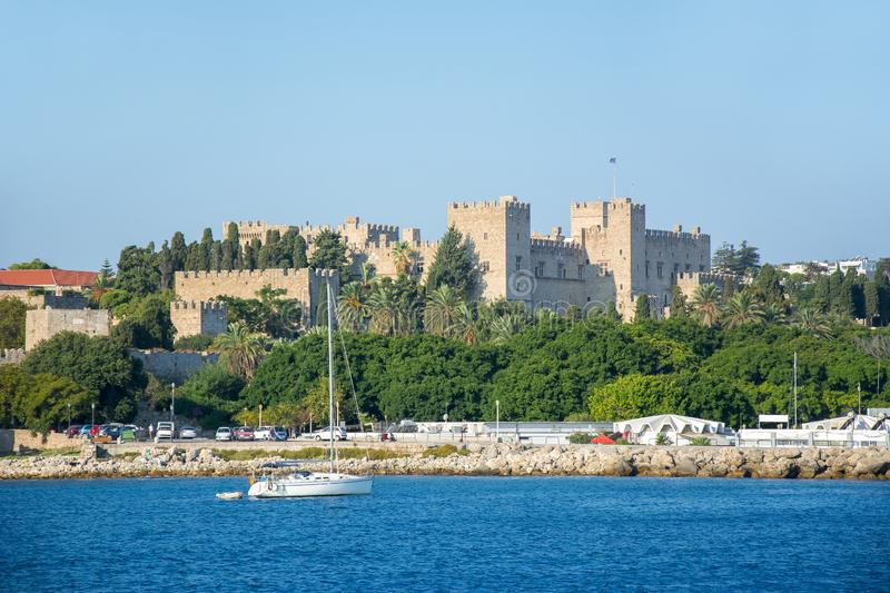 Rhodes fortress, Dodecanese islands, Greece stock image