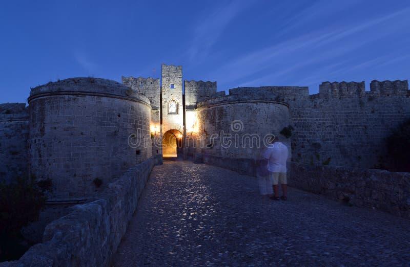 Rhodes gammal stad royaltyfri bild