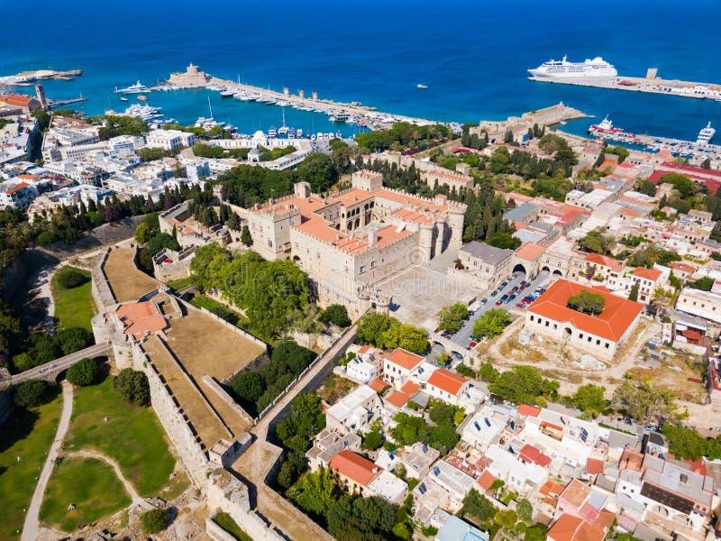 Rhodes gammal stad i Grekland royaltyfri bild