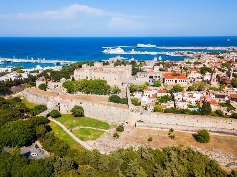 Rhodes gammal stad i Grekland fotografering för bildbyråer