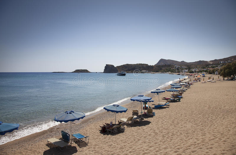 Rhodes Greece - Stegna Beach. Sunny day royalty free stock photography