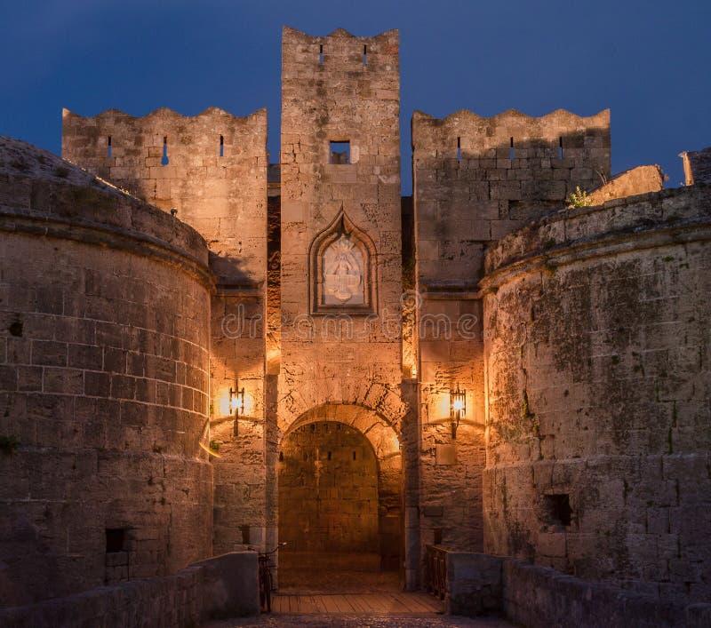 Rhodes Island Medieval City royaltyfri fotografi
