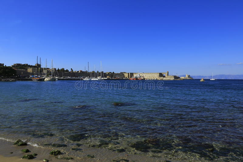 Rhodes Island port royalty free stock images