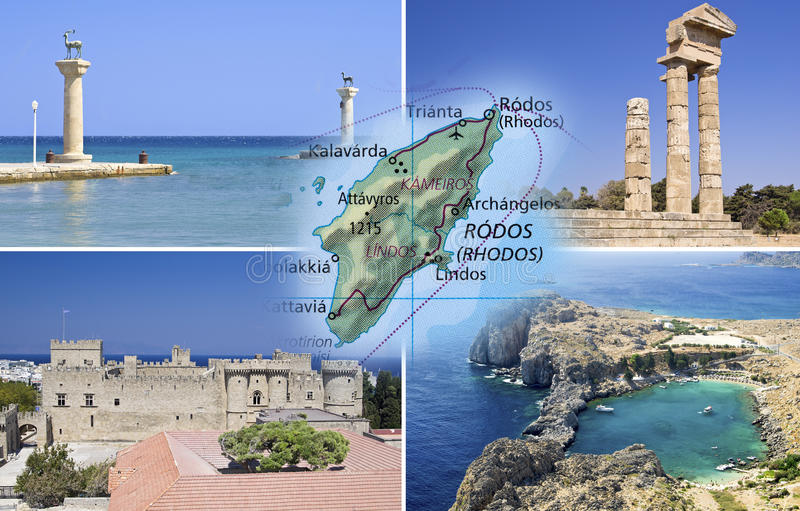 Rhodes Island And Rhodes City Stock Photo Image of deer panoramic