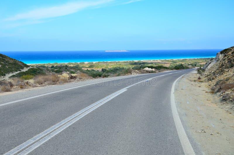 Rhodes Island - weg stock fotografie