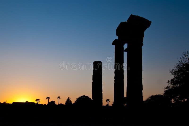 Rhodes Landmark Acropolis immagine stock libera da diritti