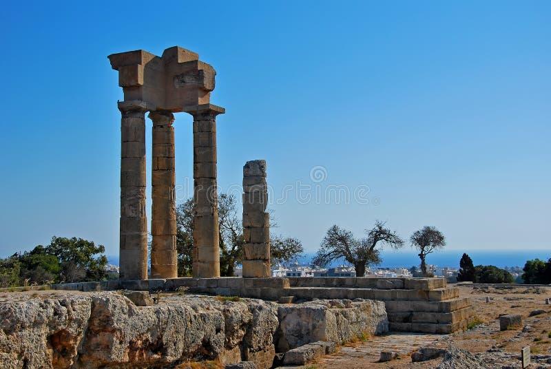Rhodes Landmark Acropolis fotografia stock libera da diritti