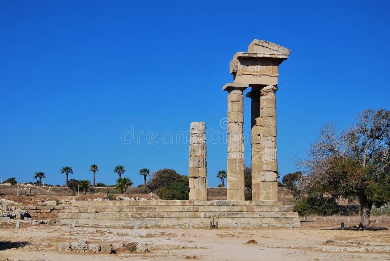 Rhodes Landmark Acropolis immagini stock libere da diritti