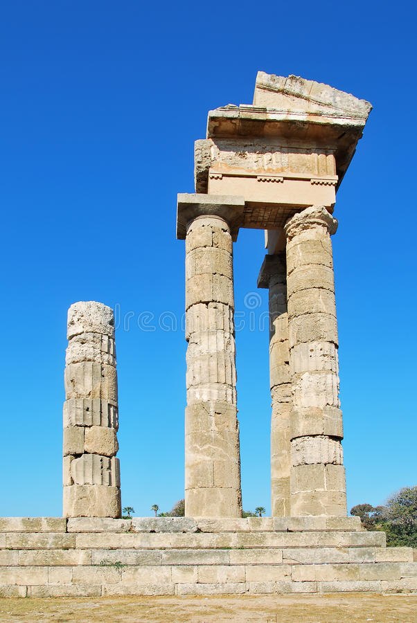 Rhodes Landmark Acropolis immagine stock