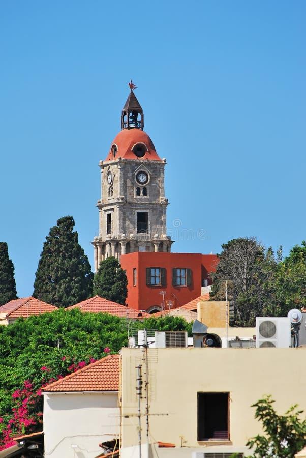 Rhodes Landmark Clock Tower image stock