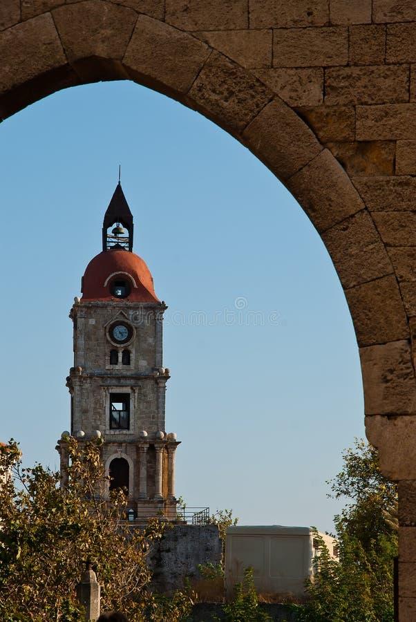 Rhodes Landmark Clock Tower photographie stock