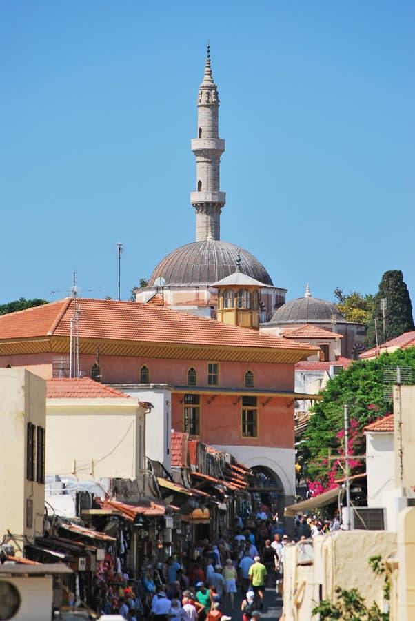Rhodes Landmark Suleiman Mosque photo libre de droits