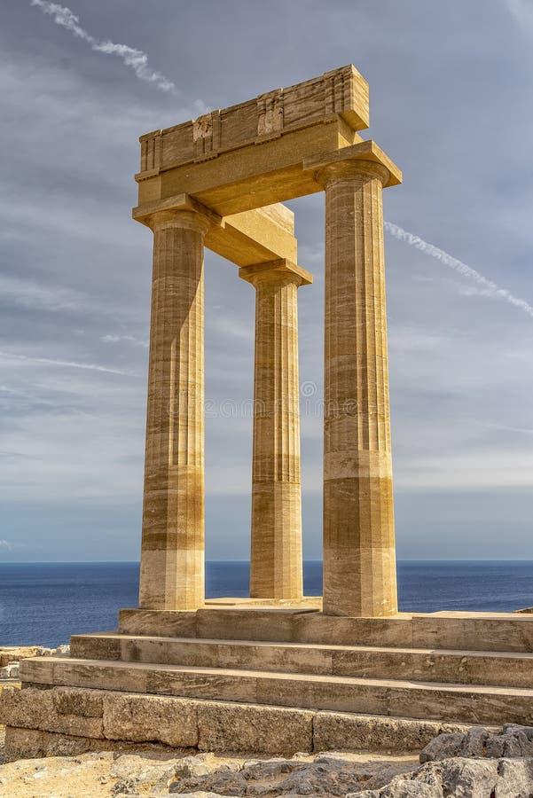 Rhodes Lindos Acropolis immagine stock
